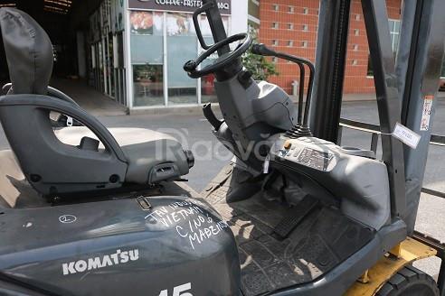 Xe nâng Komatsu cũ động cơ ga FG15T-20
