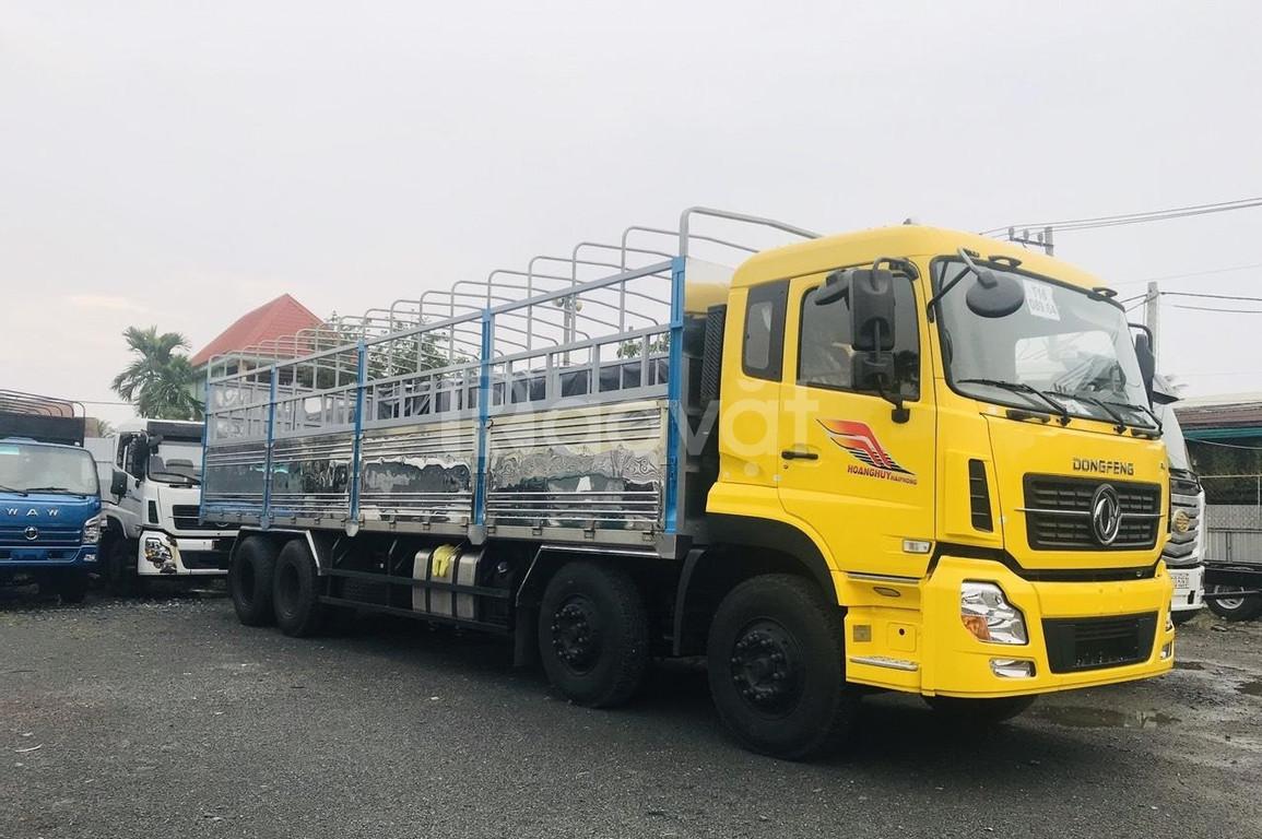 Xe tải 4 chân dongfeng 17.9 tấn thùng dài 9m5 nhập khẩu nguyên chiếc