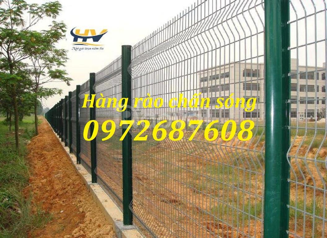 Hàng rào mạ kẽm, hàng rào lưới thép, hàng rào sơn tĩnh điện