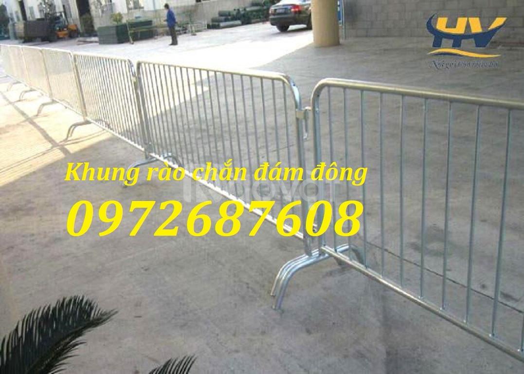 Sản xuất khung hàng rào di động, rào chắn, barie hàng rào an ninh