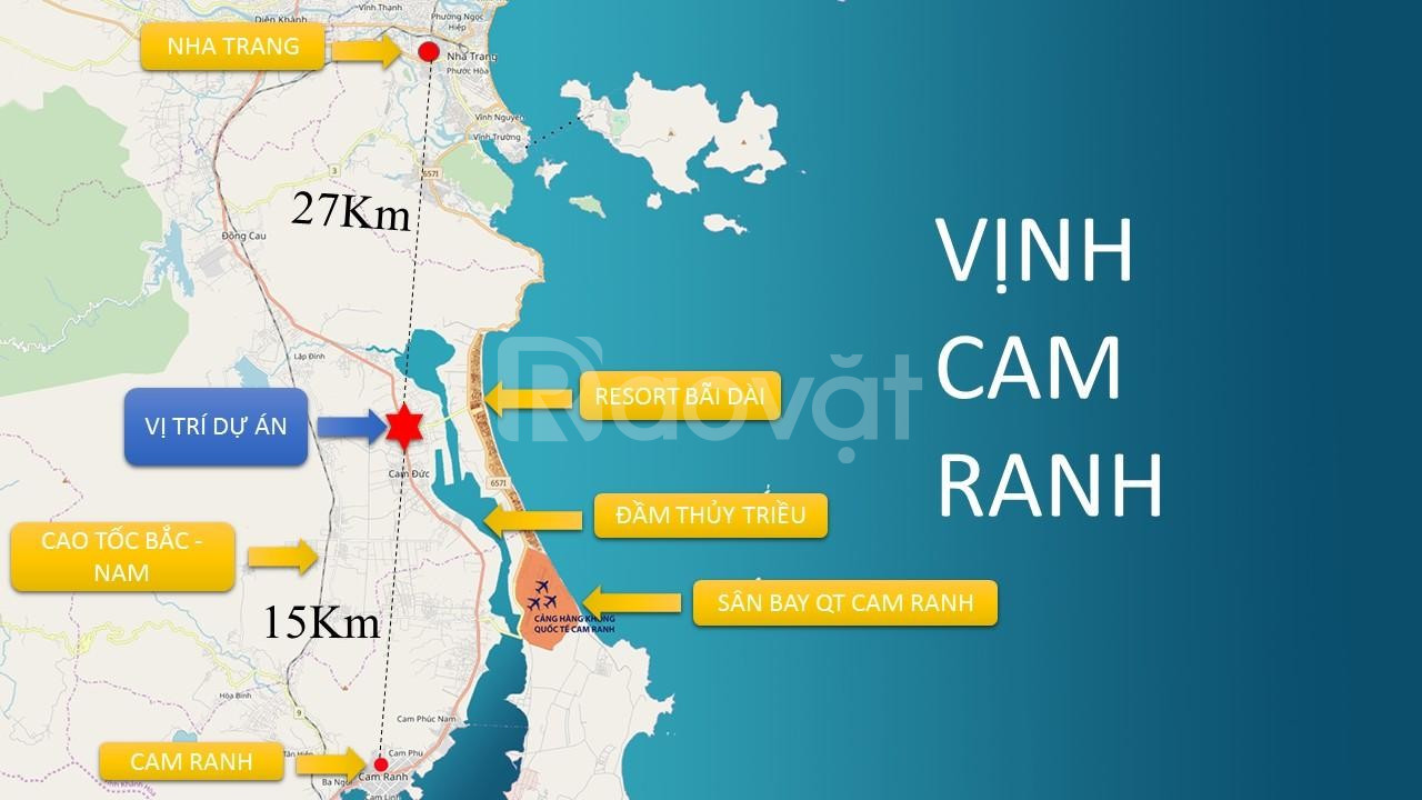 Bán đất mặt tiền đường 60m Cam Hải Tây – Đinh Tiên Hoàng .