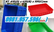 Thùng nhựa đặc có nắp, thùng nhựa cao 10cm