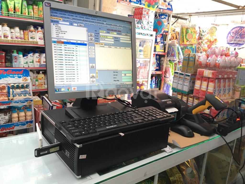 Lắp đặt máy tính tiền giá rẻ cho Cửa Hàng đồ tiêu dùng giá rẻ tại bmt