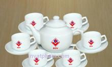 In bộ ấm trà quà tặng, in gốm sứ tại Gia Lai