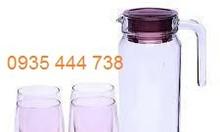 Chuyên ly cốc, bộ bình ly thủy tinh, bộ ấm chén in logo giá rẻ Đà Nẵng