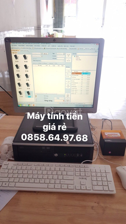 Lắp đặt bộ máy tính tiền cho quán cơm giá rẻ tại BMT