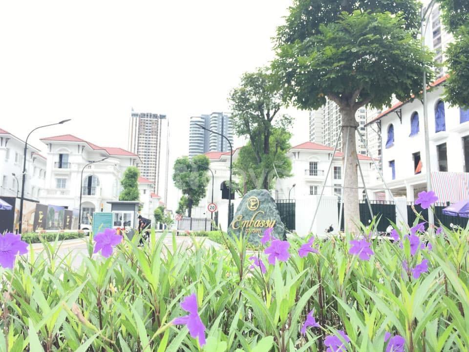 Bán biệt thự đơn lập embassy garden hướng Tây 259m
