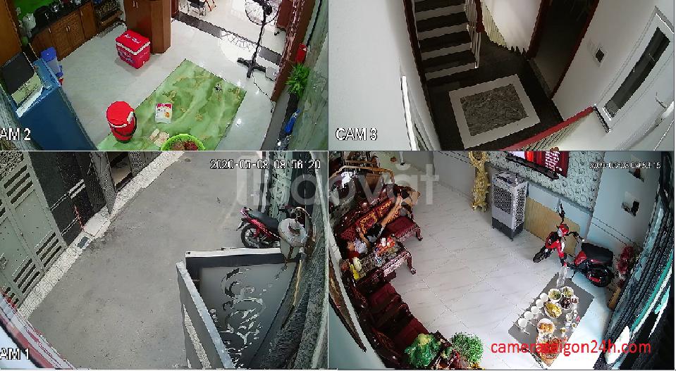 Lắp đặt bộ 4 camera quan sát giá rẻ 1080P (ảnh 3)
