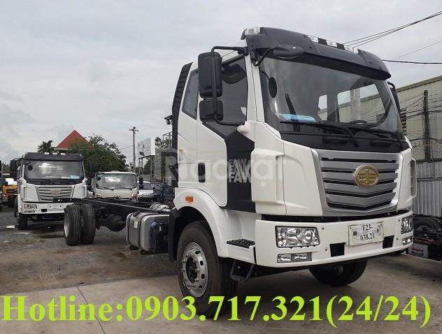 Bán xe tải Faw tải trọng 7t25 thùng dài 9m7 6máy êm