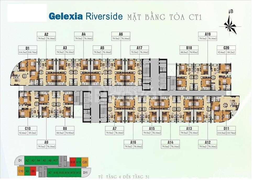Bán nhanh căn góc 3 PN 110m2 Gelexia Riverside Hoàng Mai, HN
