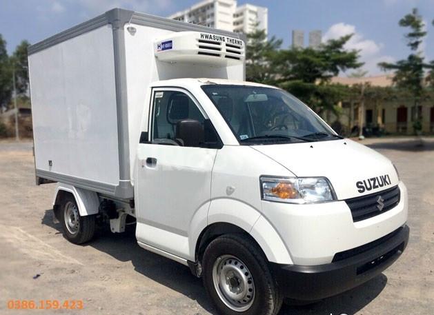 Xe tải su đông lạnh 5 tạ , suzuki 500kg, suzuki thùng đông lạnh