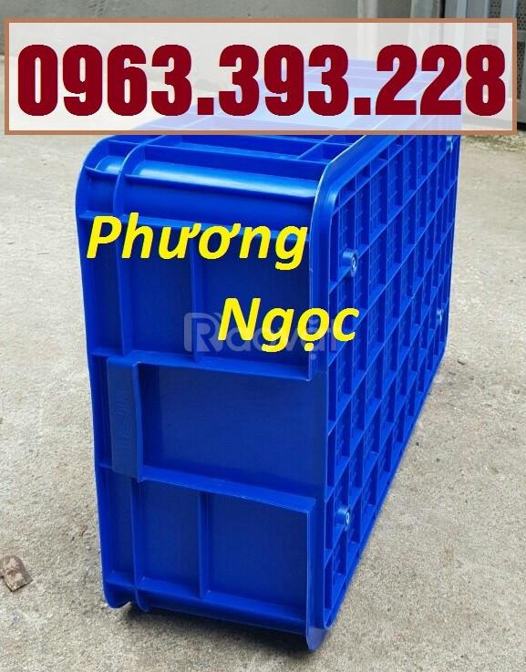 Thùng nhựa đựng linh kiện cao 19,hộp đựng nông sản,sóng nhựa bít HS003