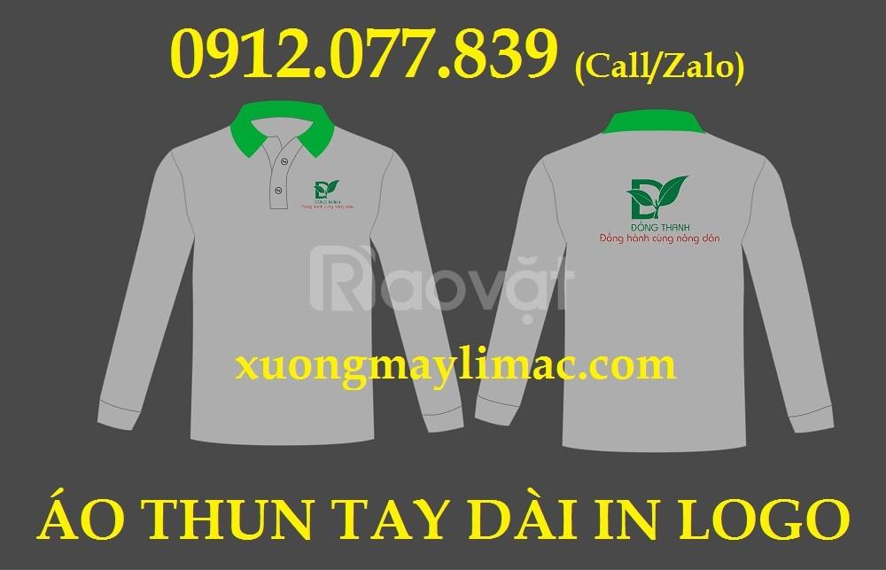 May in áo thun tay dài in logo công ty phân bón quà tặng giá rẻ