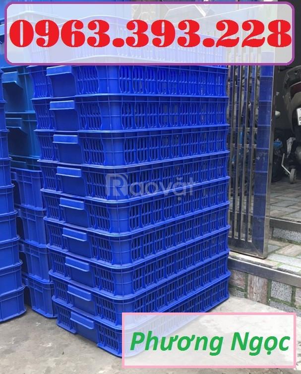 Sọt nhựa rỗng HS010, sọt đựng trái cây, sóng nhựa rỗng đựng nông sản