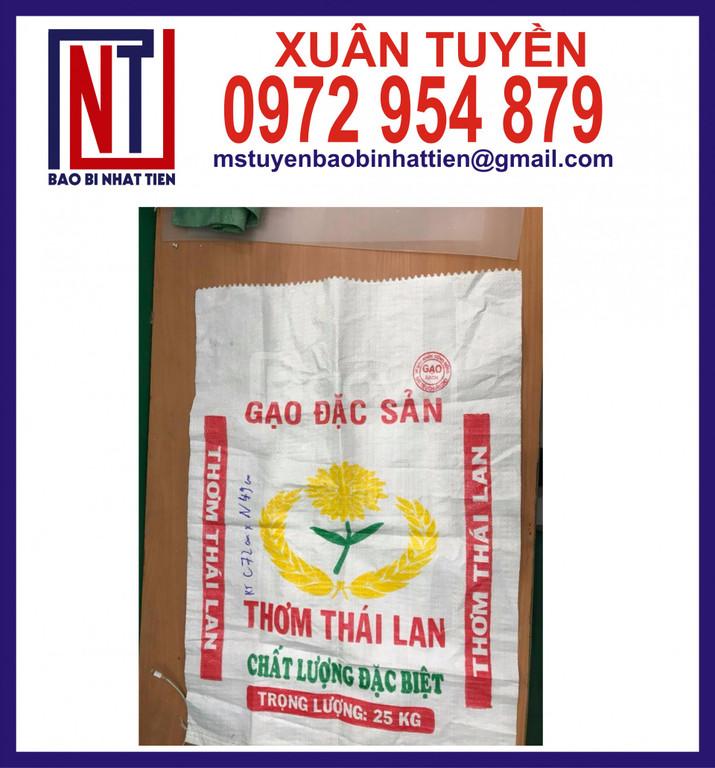 Chuyên in bao bì đựng gạo gồm in flexo và in ống đồng