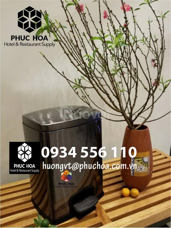 Mua thùng rác inox vuông đạp chân cao cấp Hà Nội