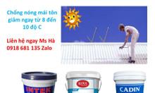 Giảm nhiệt cho mái tôn mùa nóng, sơn chống nóng cho mái tôn hiệu quả