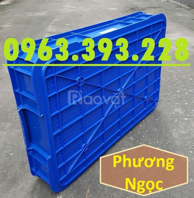 Thùng nhựa đặc HS025, thùng nhựa nguyên sinh có nắp, thùng đựng đồ