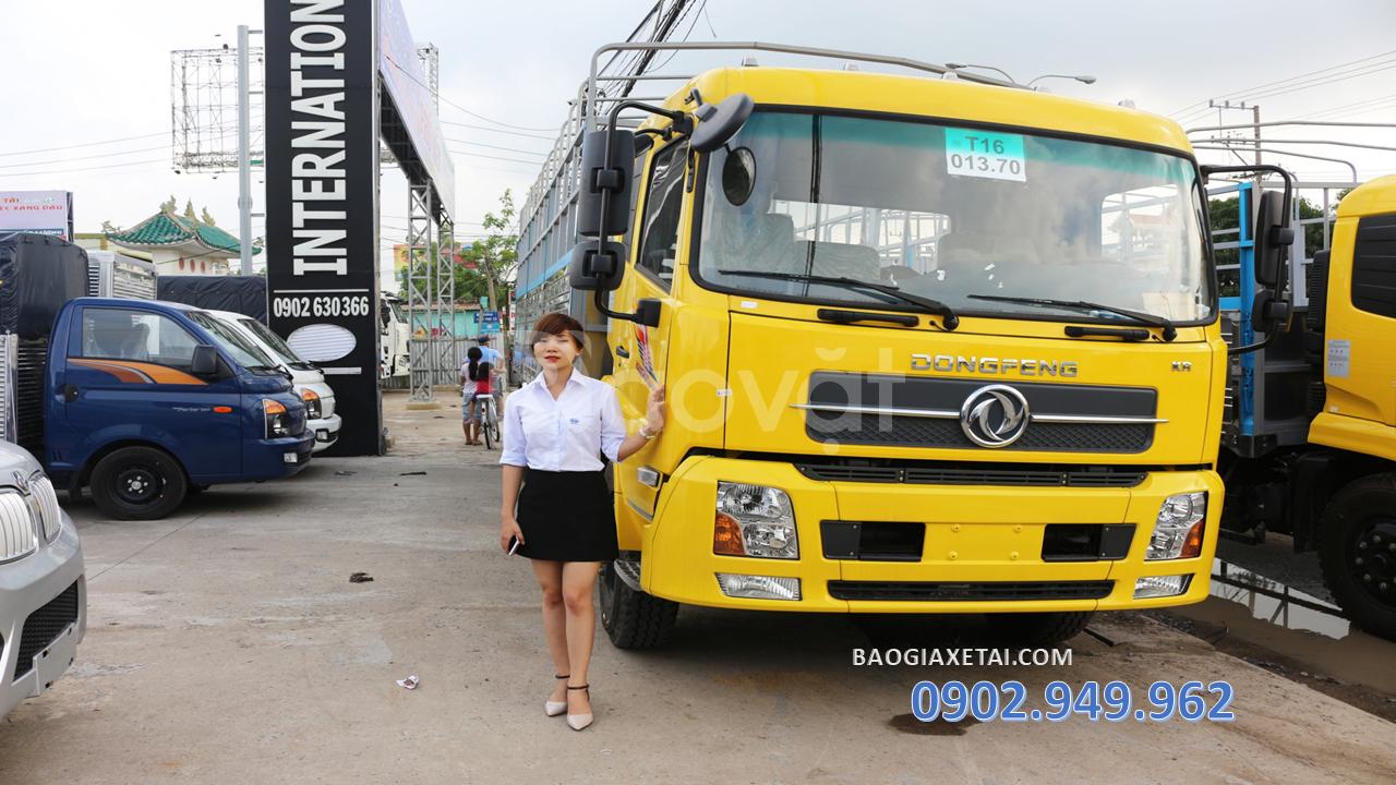 Xe tải dongfeng 9T thùng 7m5 + Dongfeng B180 giá thanh lý 2019