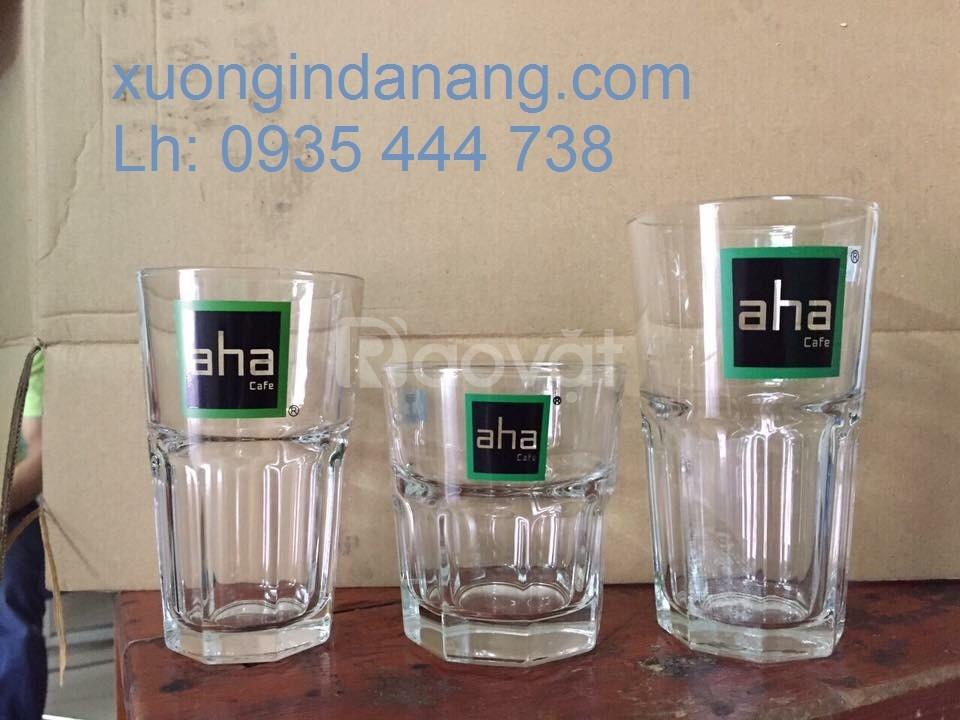In ly thủy tinh, in ly sứ quán cafe, in logo bộ ấm chén trà ở Đà Nẵng