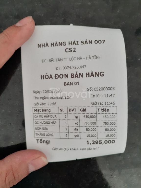 Máy tính tiền dành cho nhà hàng tại Hà Tĩnh