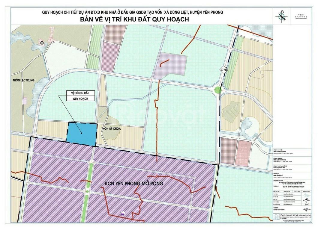 Bán suất ngoại giao đất nền dự án Dũng Liệt Green City Yên Phong BN