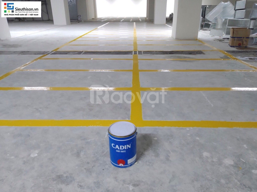 Bán sơn kẻ vạch nhà xưởng Cadin màu vàng giá tốt