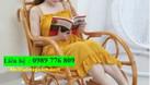 Ghế mây bập bênh đọc sách đẹp (ảnh 1)
