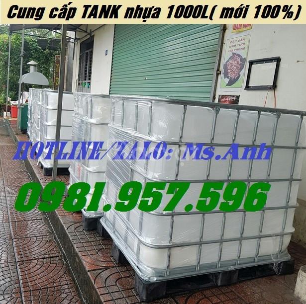 TANK IBC mới 100%, bồn nhựa trắng 1000L hàng mới