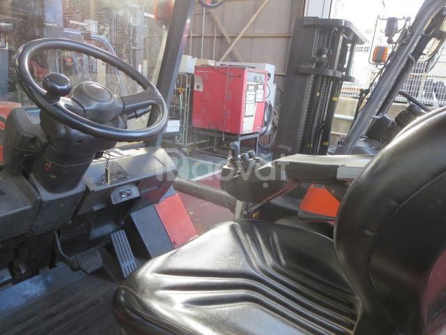 Xe nâng điện Toyota ngồi lái, 4 tấn, nâng cao 3m, năm 2015, SK 7FB45-