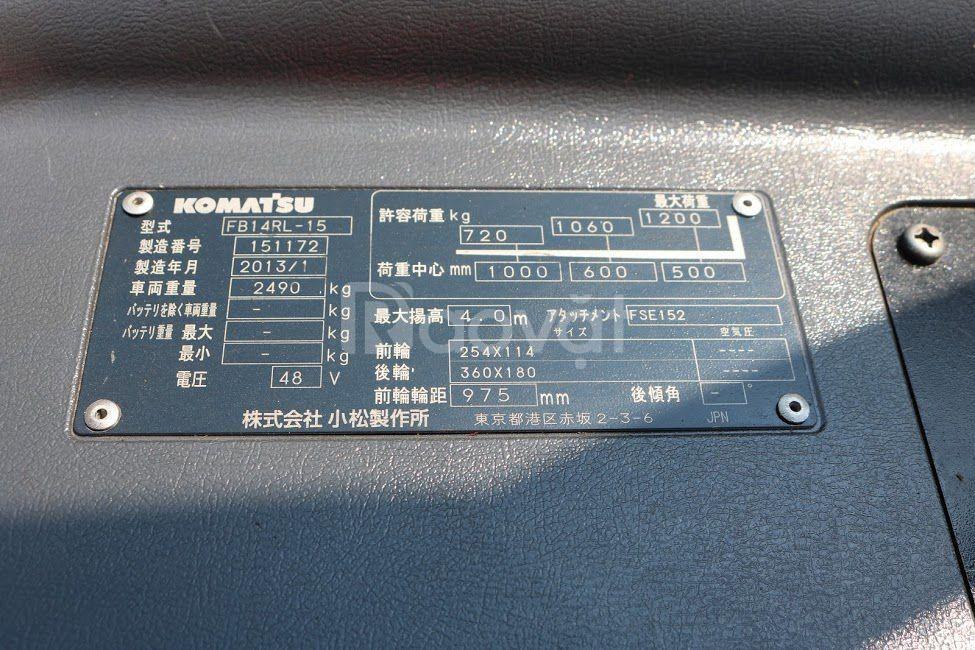 Xe nâng điện đứng lái Komatsu - Model FB14RL-15