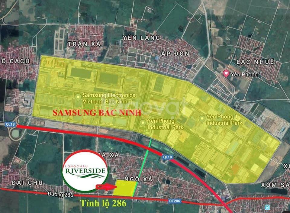 Bán đất nền TL286, đất hướng Đông 105m2, giá 16tr/m2