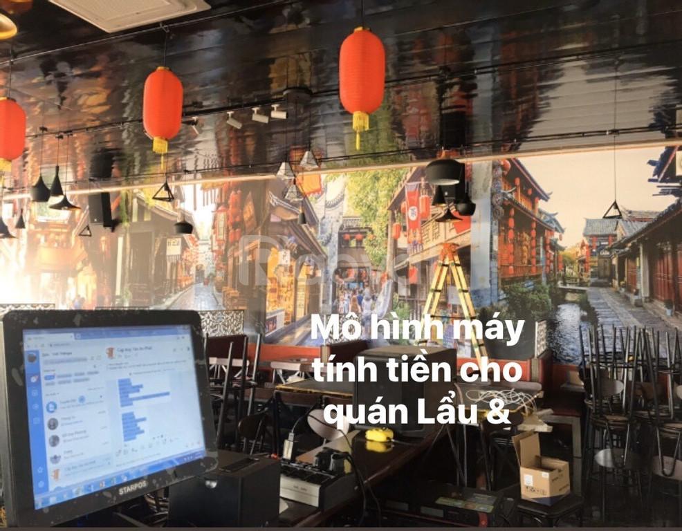 Lắp đặt máy tính tiền giá rẻ tại BMT cho Quán Lẩu & Nướng