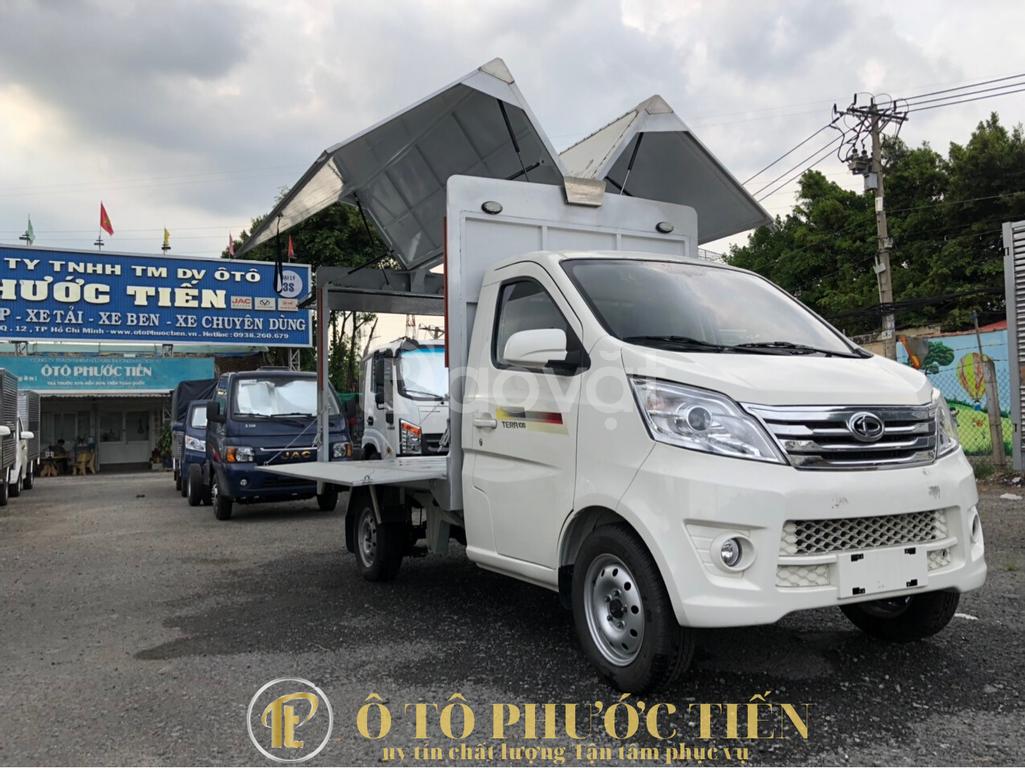 Xe tải Teraco 100 thùng cánh dơi bán hàng lưu động