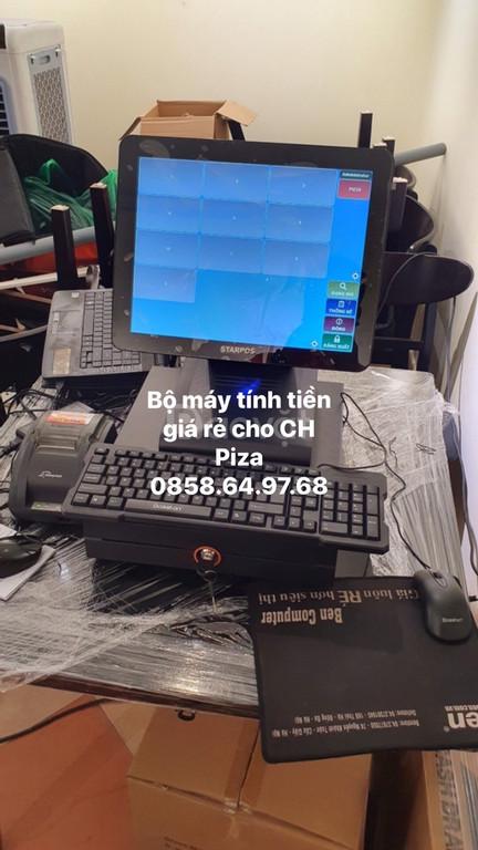 Tư vấn bộ máy tính tiền cho  cho quán Piza giá rẻ tại BMT