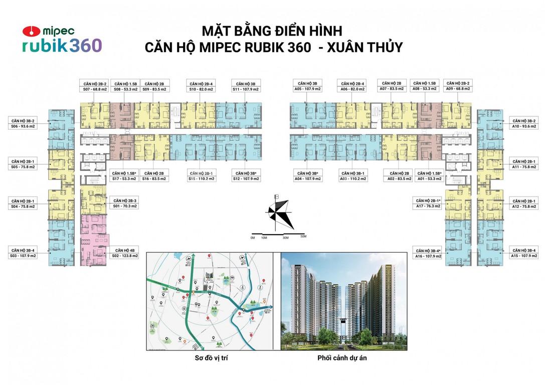 Cần bán căn S17–53,4m2 DA Mipec Rubik 360