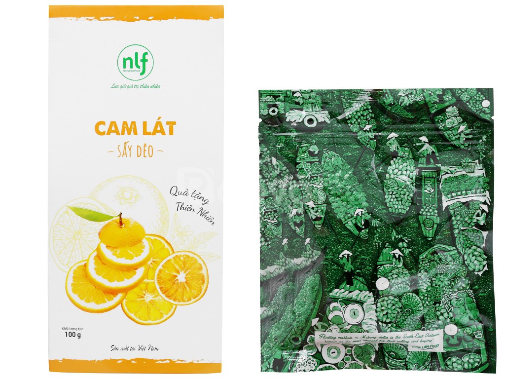 Cam lát sấy dẻo Nong Lam Food hộp 100g
