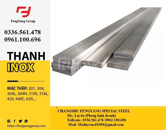 Thanh la inox  316L, 310S, 440C giá sỉ đầy đủ CO CQ (ảnh 3)