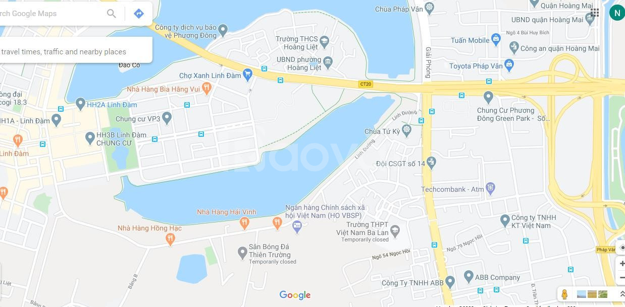 Cho thuê căn góc 70m2, 2PN tầng 5 nhà HH4B Linh Đàm, giá rẻ