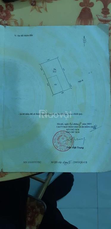Bán nhà Thịnh Quang, Đống Đa 55m2, 4T, MT 5.5m, 3.75 tỷ