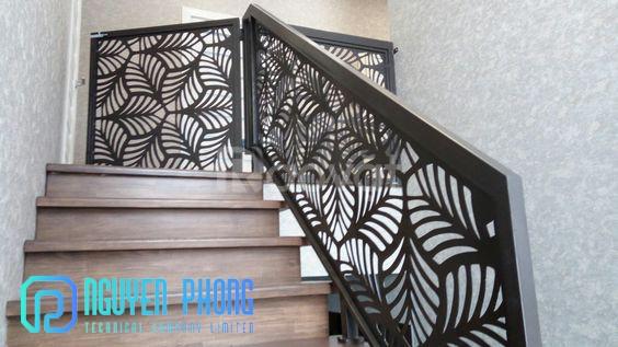Gợi ý  mẫu lan can cầu thang hoa văn CNC & sắt uốn nghệ thuật 2020