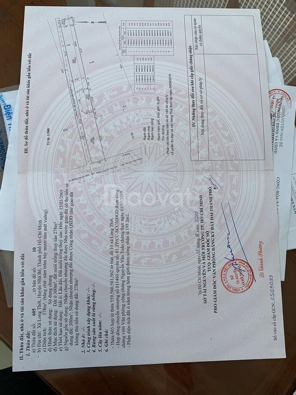 Bán đất Nguyễn Văn Tạo, Nhà Bè