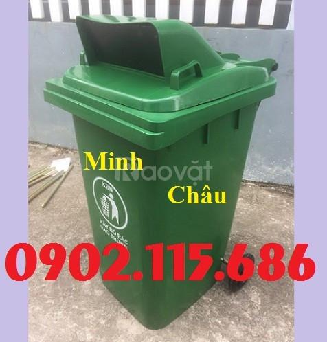 Thùng rác nhựa 120l nắp hở, thùng rác nhựa ngoài trời 120l,