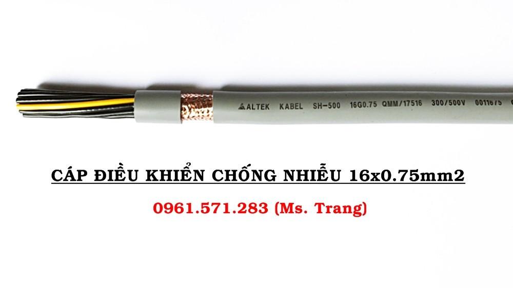 Phân phối cáp 16x0.75, hàng có sẵn