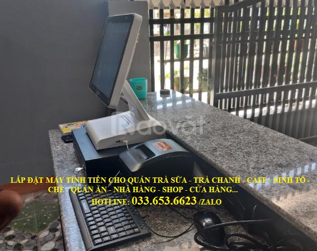 Bán máy tính tiền cho quán cafe, trà chanh tại Vũng Tàu