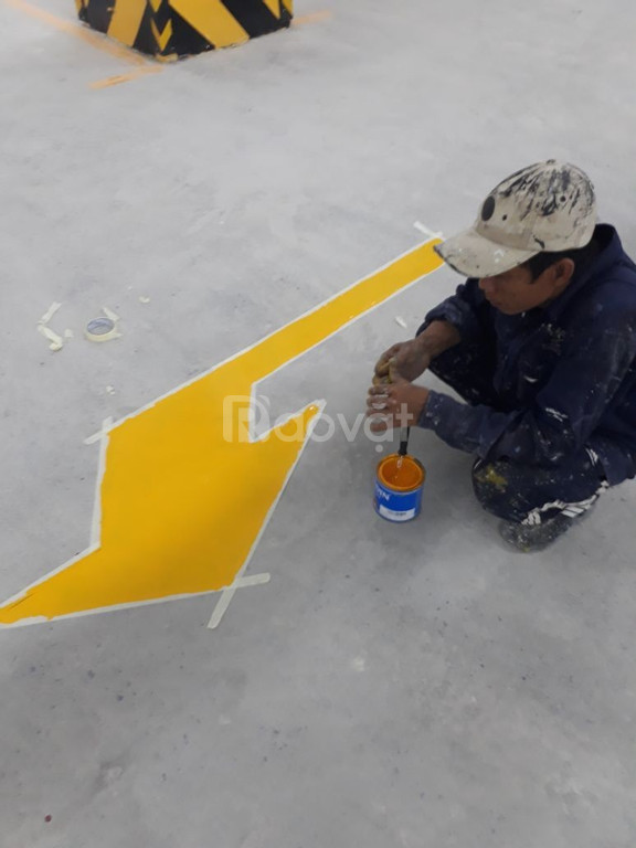 Cung cấp sơn kẻ vạch Cadin cho đường cao tốc tầng hầm màu vàng giá rẻ (ảnh 5)