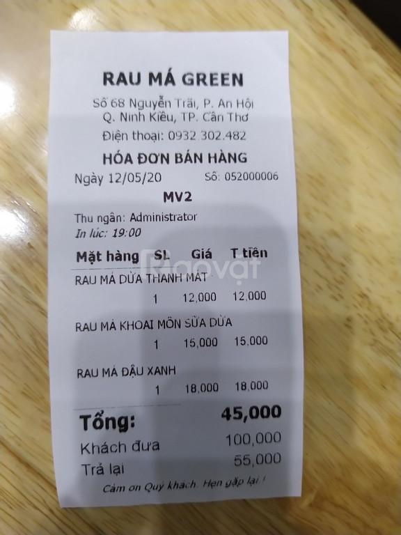 Cung cấp phần mềm & máy in bill giá rẻ tại BMT cho quán nước Rau Má