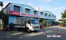 Xe tải jac 6 tấn 5 thùng 6m2 máy cummins đỏ