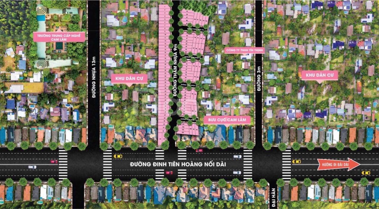 Đất nền sổ đỏ trung tâm Bãi Dài Cam Lâm