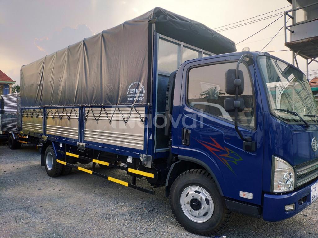 Giá xe  tải faw 7t3 máy hyundai ~ xe tải 7t3 ga cơ thùng dài 6m3